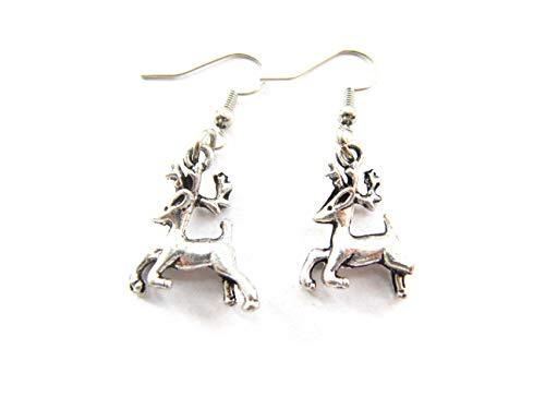 (Deer earrings, deer jewelry, cute earrings, cute jewelry, animal earrings, animal jewelry, bambi)