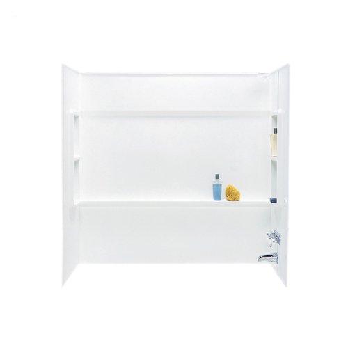 (Swanstone BA03060.010 Veritek Direct-to-Stud 3-Panel Bathtub Wall Kit, 30-in L X 60-in H X 59.5-in H, White)