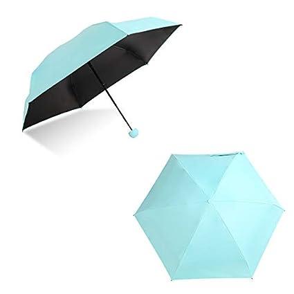MongKok Parapluie Compact avec Petites Poches et Parapluie Anti-UV Rouge