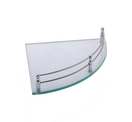 Klaxon Corner Glass Shelf – 9 Inch