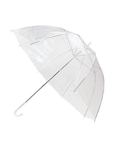 c54b401ea Unibos X4 Large Clear Dome See Through Umbrella Handle Transparent Walking  Brolly New: Amazon.co.uk: Sports & Outdoors