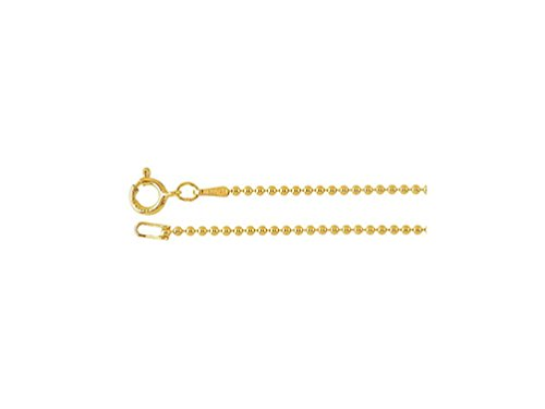 (20 Inch 14K Gold-Filled Bead Chain Finished Necklace, 1.2mm Bead)