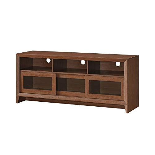 TV Stand Unit Entertainment Media Console Cabinet With 3 Two-way Sliding Door Drawers 3 Open Shelves With Back Panel Opening Ideal For Home Living Room Bedroom Apartment Use Holds TVs up to 65