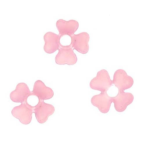 Beadaholique Lucite Baby's Breath Tiny Flowers Matte Rose Pink Light Weight 6mm (10) ()