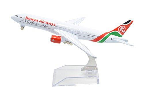 TANG DYNASTY(TM) 1:400 16cm Boeing B-777 Kenya Airways Metal Airplane Model Plane Toy Plane Model