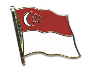 Yantec Flaggenpin Singapur Pin Flagge