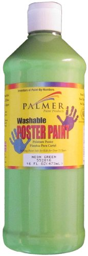 Palmer - Washable Neon Poster Paint 16 Ounces - 1