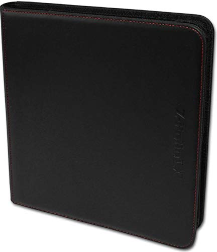 BCW Gaming 12-Pocket Z-Folio LX Trading Card Albums, Black