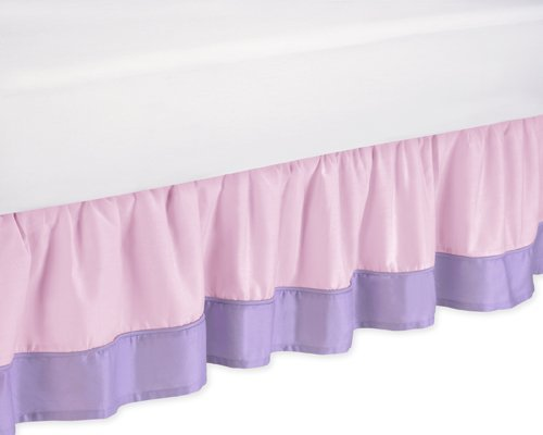Pink and Purple Butterfly Queen Bed Skirt by Sweet JoJo Designs by Sweet Jojo Designs