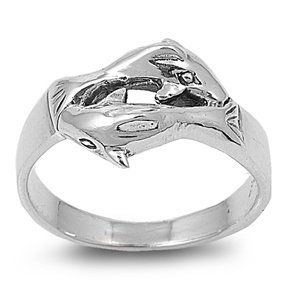 Sterling silver koi fish ring sterling for Koi fish ring