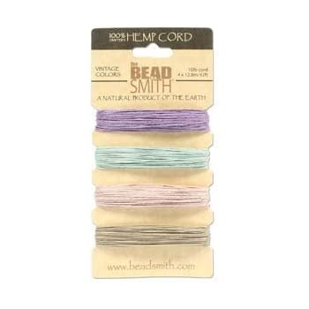 Neutral Colors App 42 Feet 42545 Beadsmith 60118 Hemp Twine Bead Cord .55mm