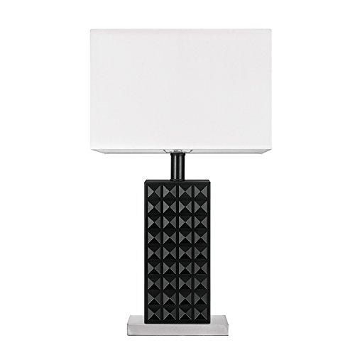 "GLOBE ELECTRIC 12721 20"" Blk Stud Table Lamp"