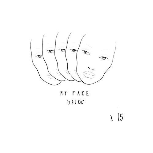 私のキットには、私の顔チャートの15を共同しました x4 - My Kit Co My Face Charts X15 (Pack of 4) [並行輸入品] B07116YL8B