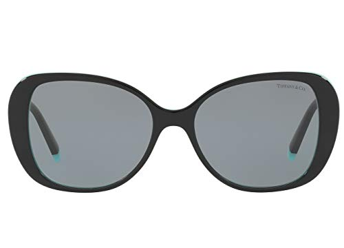 Tiffany & Co. TF 4156-F Sunglasses for Women Asian Fit Frames, New 2019 T Collection (Grey 8055/1, ()