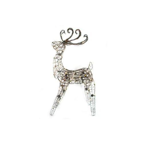 Outdoor Lighted Grapevine Deer - 8
