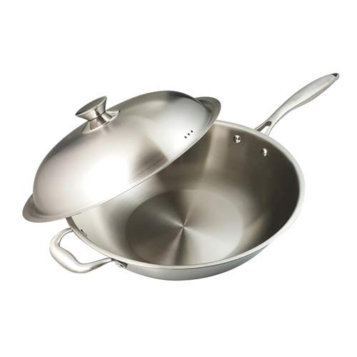 16 in stainless steel wok - 7