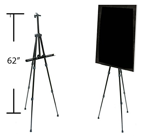 Display Portable Poster (Super-Dispaly @ Portable Lightweight Adjustable Black Aluminum Poster Stand or Display Holder)