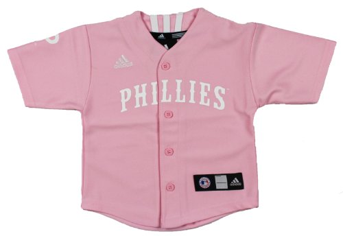 MLB Philadelphia Phillies Girls Pink Jersey By Adidas – Sports Center Store