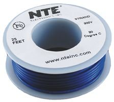 nte-electronics-wh22-06-25-hook-up-wire-stranded-type-22-gauge-25-length-blue