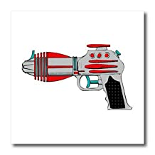 ht_16476_1 TNMGraphics Sci Fi - Laser Gun - Iron on Heat Transfers - 8x8 Iron on Heat Transfer for White Material