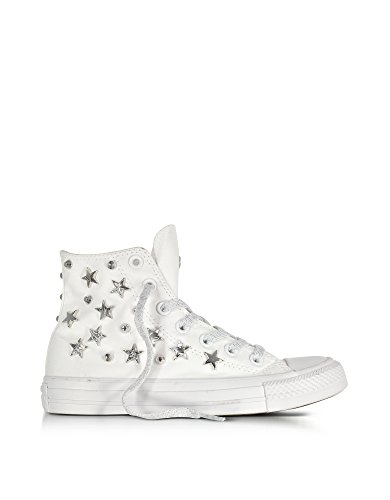 Converse Hi Top Sneakers Donna 156912C Canapa Bianco