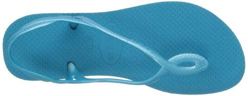 Havaianas Luna white H4129697-0001 - Sandalias de caucho para mujer, color blanco, talla 35/36 Capri Blue