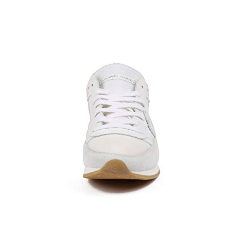 Bianco E Nylon Uomo Tropez In Model Sneaker Bassa Camoscio Philippe wqzX6Hx