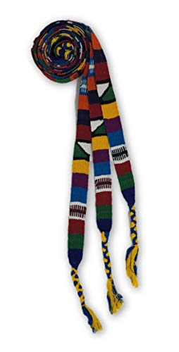 Mayan Arts Set of 3, Graduation Tassel, Hand Loomed Multi Color Strapping, Textile Ties with Animal Motifs, Hat Bands, Guatemala, 48 Inches Long ()
