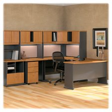 Bush Business Furniture Series A 48W Corner Desk in Natural Cherry and ()