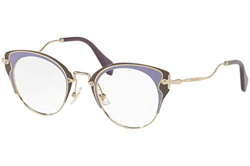 MIU MIU Eyeglasses MU52PV U671O1 Pale Gold/Violet/Argil