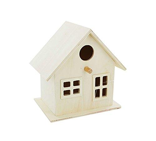 Wooden Bird House Nest Hotel Home Box Garden Feeding Station Box Crafts Arts UK By Accessories Attic®