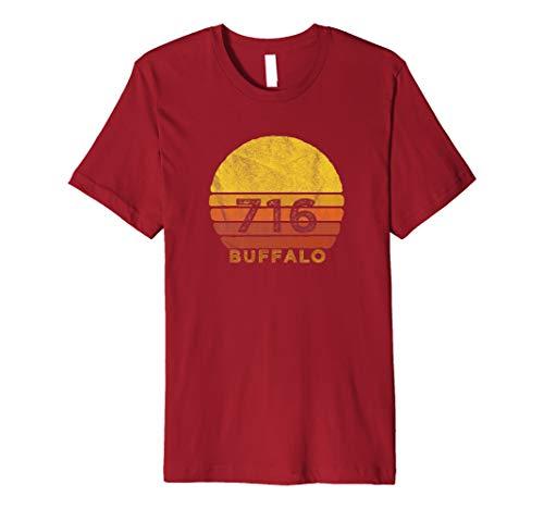 Retro Vintage 716 Area Code Buffalo, NY Souvenir Premium T-Shirt (Buffalo Shop Buffalo, Ny)