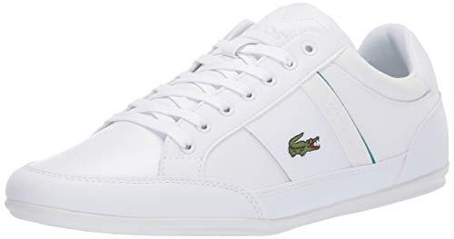 Lacoste Men's Chaymon Sneaker white/green 13 Medium US