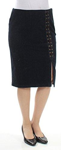 Lauren Ralph Lauren Womens Denim Side Slit Straight Skirt Blue 10 -