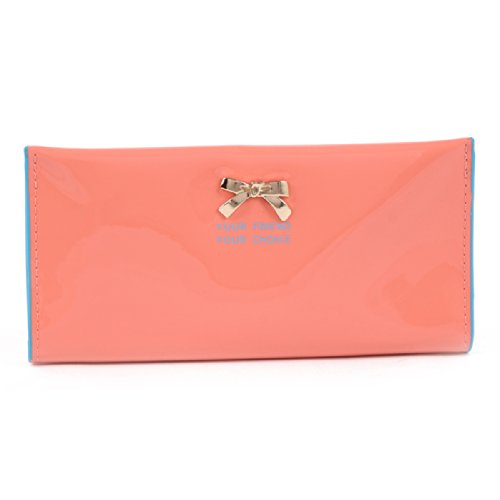 Slim Damara Wallet Pink Cases Clutch Womens Card Bowkont Deep Holder FZBqfw65Z