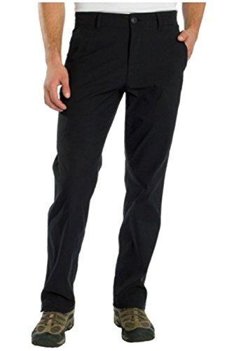 UB TECH Mens Rainier Travel Chino Active Cargo Pants UPF 50 Water Repellent (32X30, Black) (Comfort Chino)