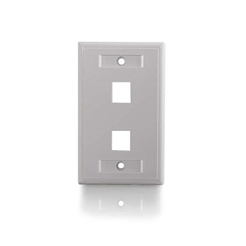 C2G/Cables to Go 03411 Two Port Keystone Single Gang Wall Plate, White Photo #4