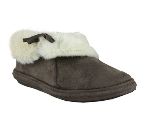 6 106 Ladies Brown Kalinda fur Dark slipper cuff 7p7CqvU