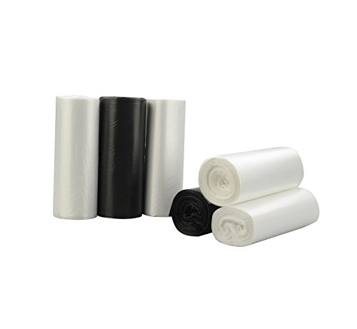 Nicesh 1.6 Gallon Trash Can Liners,150 Counts, BCW