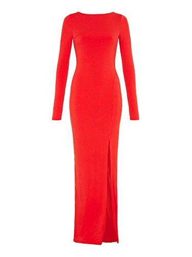 Outline - Vestido - ajustado - Manga Larga - para mujer rojo pimiento