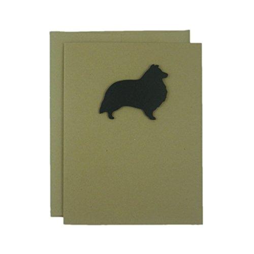 Sheltie - Shetland Sheepdog Blank Cards - Handmade Black Dog Kraft Note Cards - Greeting Card 10 Pack - Blank Note Cards