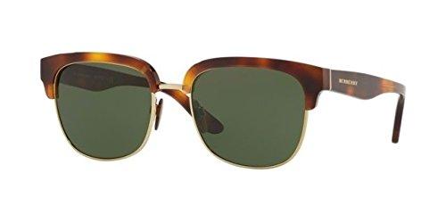 Burberry Men's Square Sunglasses, Light Havana/Green, One Size