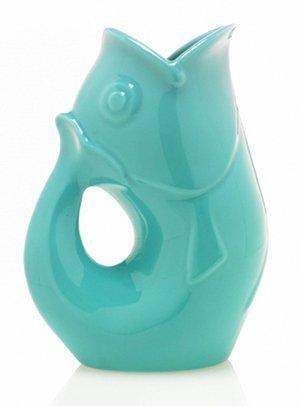 Aqua Pot - Gurgle Pot Aqua 9 1/2 Inches High