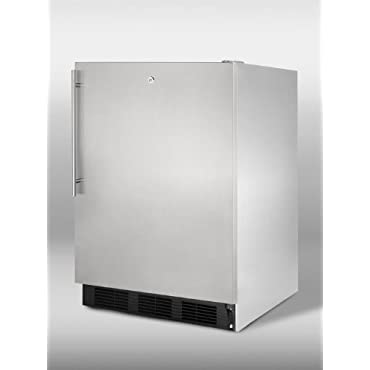 Summit SPR7OSST Professional 5.5 Cu. Ft. Stainless Steel Undercounter Built-In Compact Refrigerator