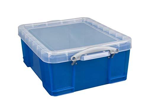 Really Useful Box Storage Box, 17 Liter, 17 1/4 x 14 x 7, Blue