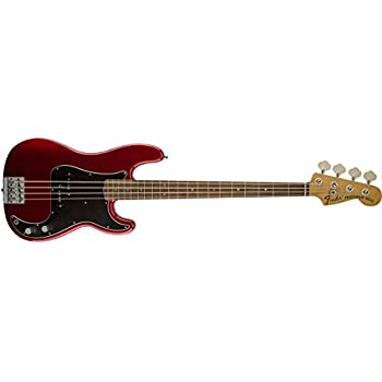 Fender Nate Mendel Precision Electric Bass Guitar, Candy Apple Red