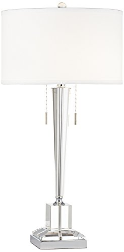 Cheap Renee Clear Crystal Glass Table Lamp by Vienna Full Spectrum