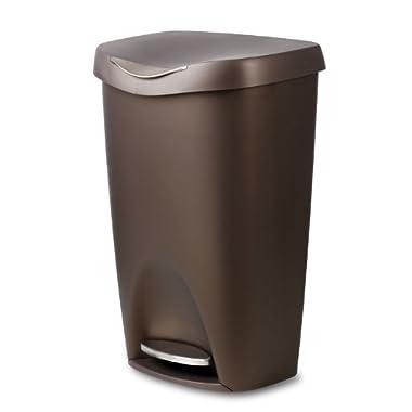Umbra Brim 13-Gallon Step Waste Can, Bronze