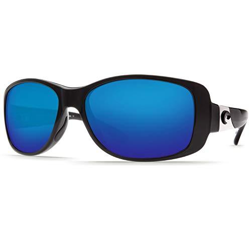 Costa Del Mar Sunglasses - Tippet- Glass / Frame: Black Lens: Polarized Blue Mirror 400 Glass ()