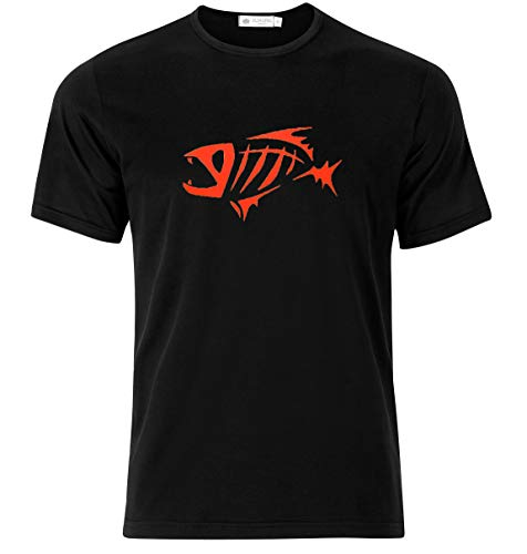 TSN Enterprise G.Loomis Skeleton Fish Logo T-Shirt Gorgeous T-Shirt for Men and Women (Large) Black